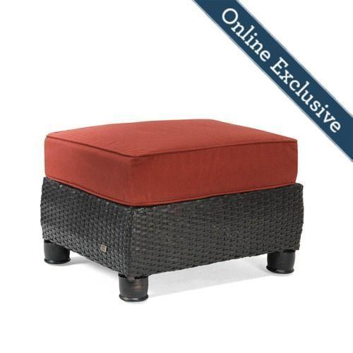 Breckenridge Ottoman w/ Brick Red Cushion