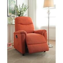 ORANGE RECLINER W/POWER LIFT