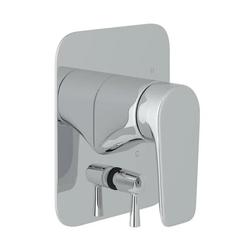 Hoxton Pressure Balance Trim with Diverter - Polished Chrome with Metal Lever Handle