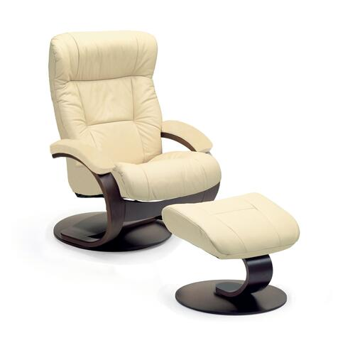 Manjana C Manual Large Recliner With Footstool