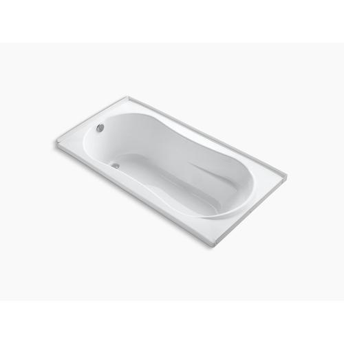 "Biscuit 72"" X 36"" Alcove Bath With Flange and Left-hand Drain"