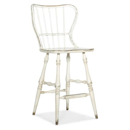 Hooker Furniture - Ciao Bella Spindle Back Bar Stool-White