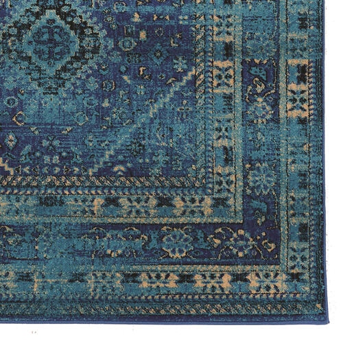 Serape Goravan Turquoise 5x7 6 In