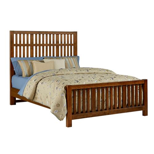 King Craftsman Slat Bed with Slat Footboard