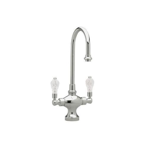 Kitchen & Bar Single Hole Bar Faucet K8108 - Satin Gold with Satin Nickel