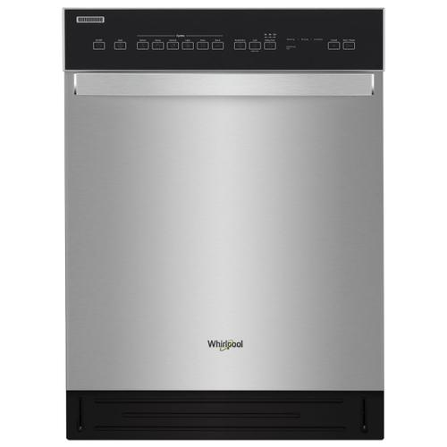 Whirlpool - Quiet Dishwasher with Stainless Steel Tub Stainless Steel