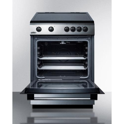 """Summit - 24"""" Wide Smooth Top Electric Range"""