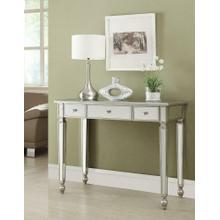 Contemporary Antique Silver Mirrored Console Table