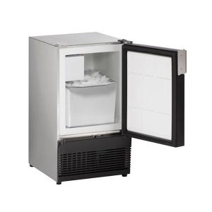"""U-LineSs98nf 15"""" Crescent Ice Maker With Stainless Solid Finish (115 V/60 Hz Volts /60 Hz Hz)"""