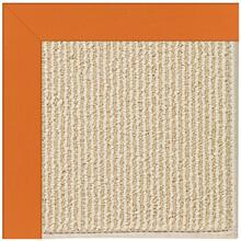 Creative Concepts-Beach Sisal Canvas Tangerine - Rectangle - Custom