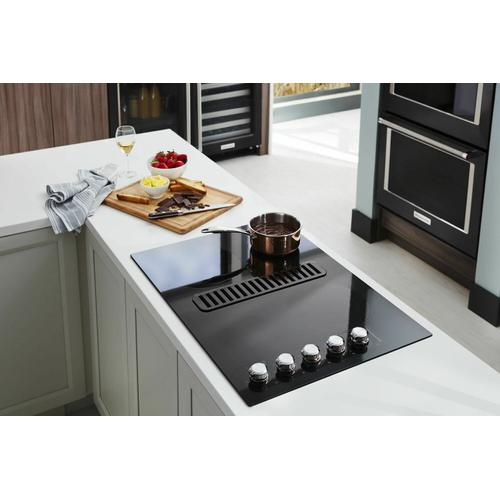 """KitchenAid - 30"""" Electric Downdraft Cooktop with 4 Elements - Stainless Steel"""