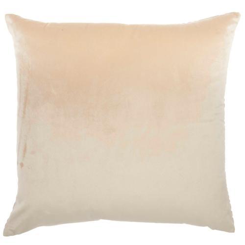"""Luminescence Et139 Beige 20"""" X 20"""" Throw Pillow"""