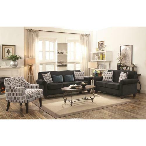 Gideon Graphite Three-piece Living Room Set