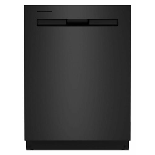 Top control dishwasher with Third Level Rack and Dual Power filtration Cast Iron Black