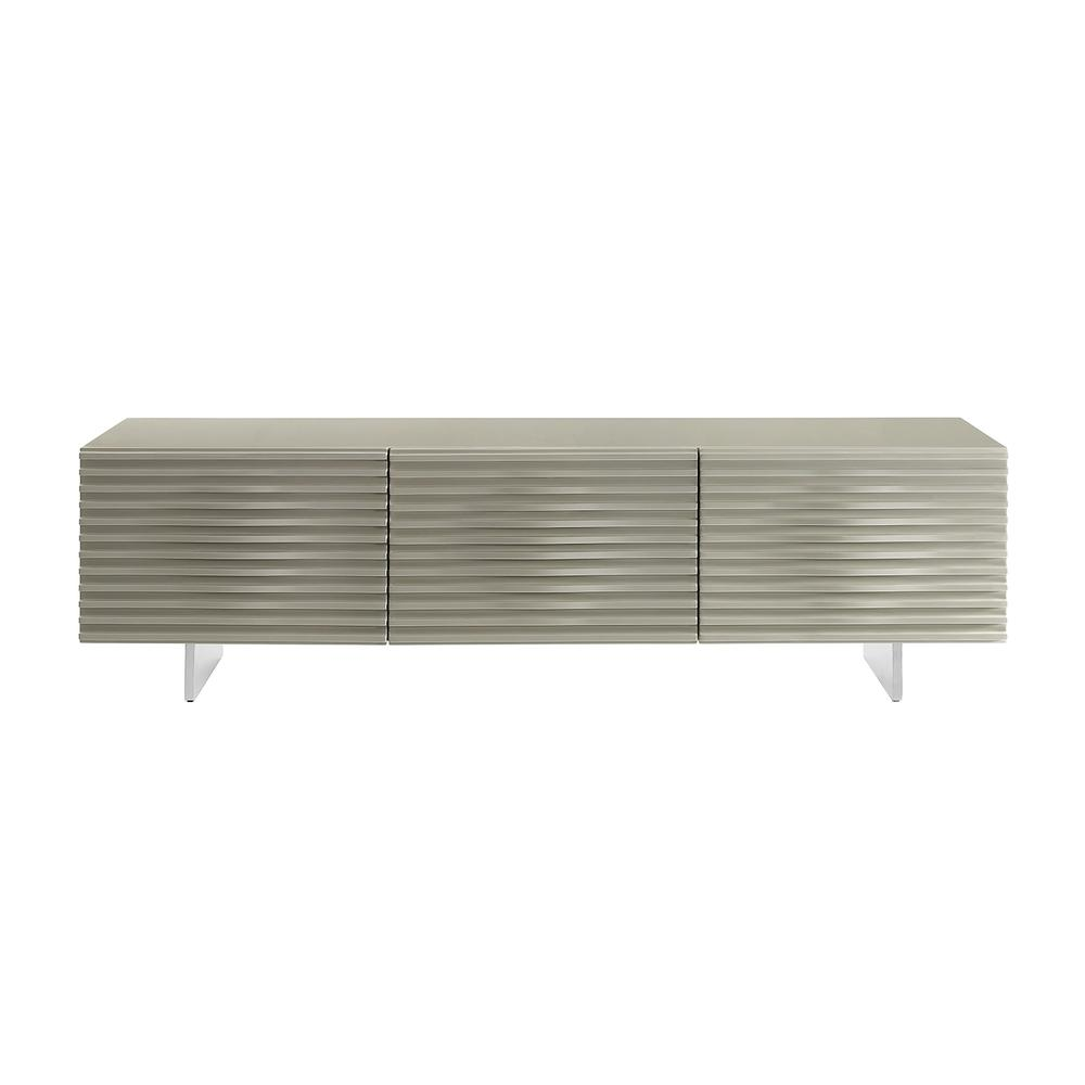 The Moon High Gloss Light Gray Lacquer Entertainment Centers