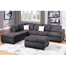 3-pcs Sectional Sofa Set