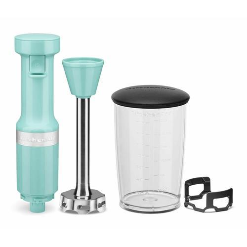 KitchenAid - Variable Speed Corded Hand Blender - Aqua Sky