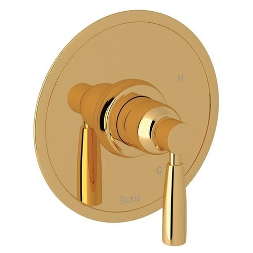 English Gold Perrin & Rowe Holborn Pressure Balance Trim Without Diverter with Holborn Metal Lever
