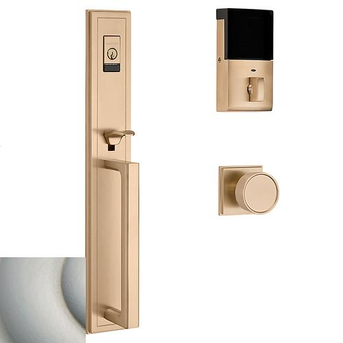 Satin Nickel Evolved Hollywood Hills Full Escutcheon Handleset
