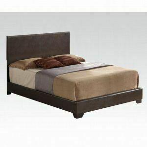 ACME Ireland III Queen Bed (Panel) - 14370Q_KIT - Brown PU