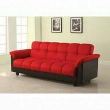 ACME Achava Adjustable Sofa - 57055 - Red Microfiber & PU