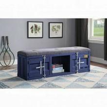 ACME Cargo Bench (Storage) - 35942 - Gray Fabric & Blue