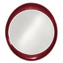 View Product - Ellipse Mirror - Glossy Burgundy