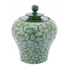 Small Ventra Temple Jar Green