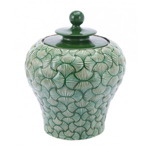 Small Ventra Temple Jar Green