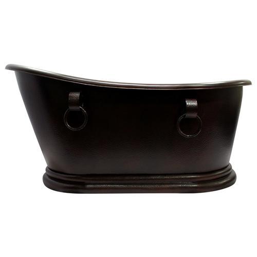 "Product Image - Lilith 67"" Slipper Copper Tub"