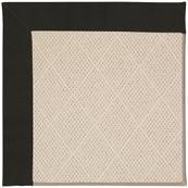 "Creative Concepts-White Wicker Canvas Black - Rectangle - 24"" x 36"""