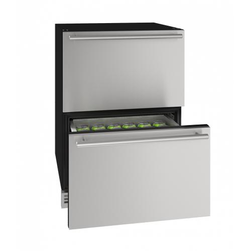 """U-Line - Hdr124 24"""" Refrigerator Drawers With Stainless Solid Finish (115v/60 Hz Volts /60 Hz Hz)"""