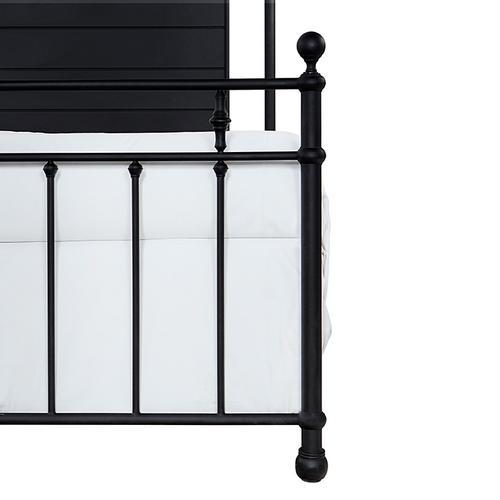 Barton King Bed, Textured Black
