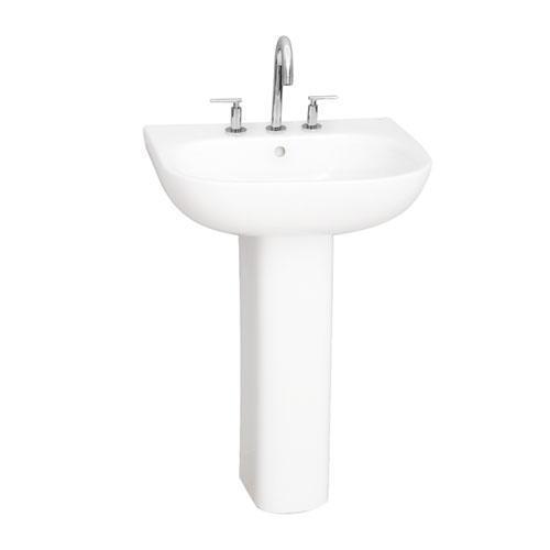"Tonique 550 Pedestal Lavatory - 8"" Widespread"