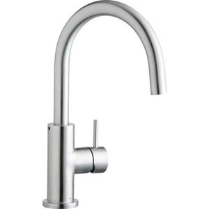 Elkay Allure Single Hole Kitchen Faucet with Lever Handle Satin Stainless Steel Product Image