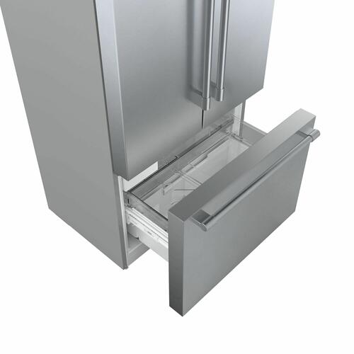 800 Series French Door Bottom Mount Refrigerator 36'' Easy clean stainless steel B36CT81SNS