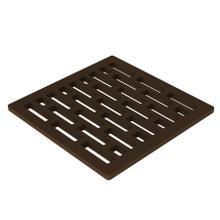 """Oil Rubbed Bronze 4"""" Square Shower Drain"""