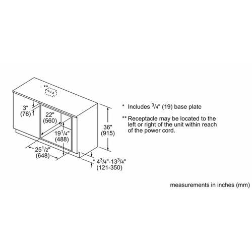 "Bosch - 800 Series, 27"", Speed Oven, SS, 120v"