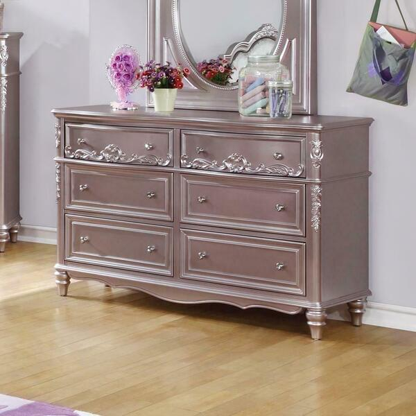 See Details - Caroline Metallic Lilac Dresser