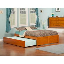 Concord Full Flat Panel Foot Board with Urban Trundle Caramel Latte