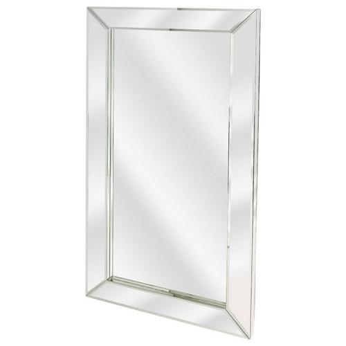 Large rectangular mirrors have always allured womenfolk as traditional vanity mirrors. This simple style mirror will add character and life to the otherwise simple room with the dramatic frame and perfect shape of this mirror. This mirror is sleek, trendy and at the same time stylish to look at. It will surely the attention of your friends and loved ones. This stylish mirror is simple in its appearance, but the glossy textures and finish give it an elegant look and feel. Being beautiful and elegant, it will lend class and prestige to any interior. This mirror can be mounted horizontally or vertically depending on your preference.