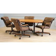 See Details - Mocha Douglas Extension Table with Tilt Swivel Chairs