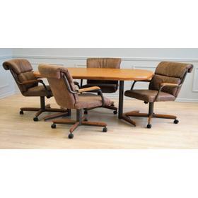 Mocha Douglas Extension Table with Tilt Swivel Chairs