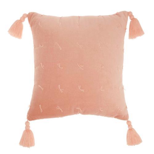 """Life Styles Az044 Coral 18"""" X 18"""" Throw Pillow"""
