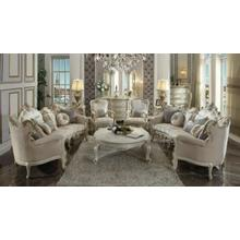ACME Picardy Sofa w/8 Pillows - 56880 - Fabric & Antique Pearl
