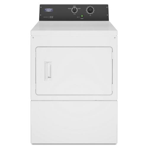 Commercial Gas Super-Capacity Dryer, Card Reader-Ready or Non-Coin White