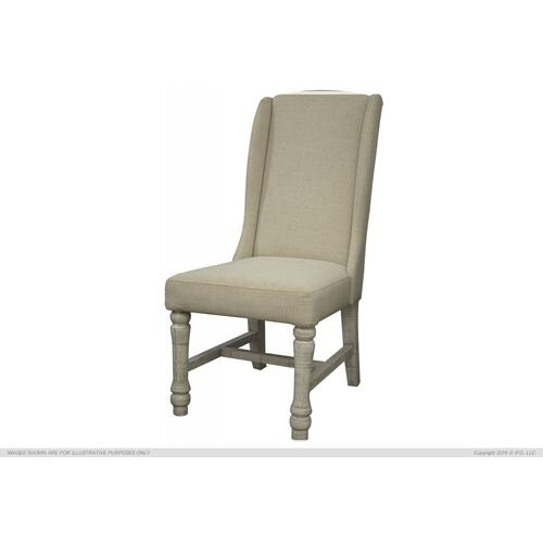 Uph. Chair w/ Ivory finish