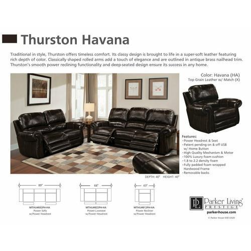 Parker House - THURSTON - HAVANA Power Loveseat