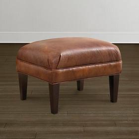 Georgia Leather Ottoman