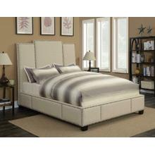 Lawndale Beige Upholstered Queen Bed